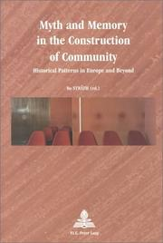 Cover of: Myth And Memory In The Construction Of Community