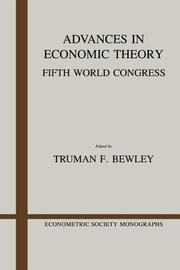 Cover of: Advances in Economic Theory | Truman Fassett Bewley