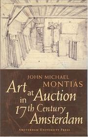 Cover of: Art at auction in 17th century Amsterdam