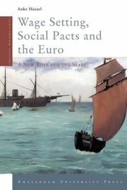 Cover of: Wage Setting, Social Pacts and the Euro