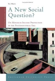 Cover of: A New Social Question? | Ive Marx