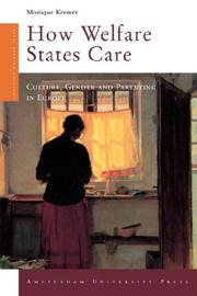 How welfare states care by Monique Kremer