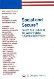 Cover of: Social and secure?