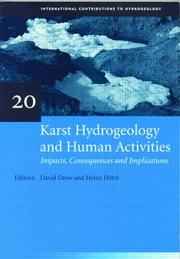 Cover of: Karst hydrogeology and human activities