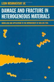 Cover of: Damage and fracture of heterogeneous materials