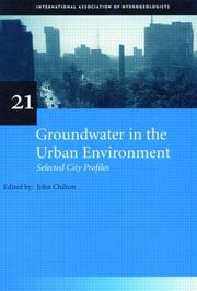 Cover of: Groundwater in the urban environment