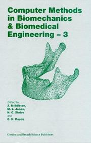 Cover of: Computer Methods in Biomechanics and Biomedical Engineering  3 (Computer Methods in Biomechanics & Biomedical Engineering) |