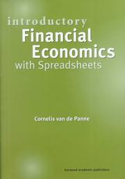 Cover of: Introductory Financial Economics with Spreadsheets | Co van de Panne