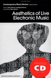 Cover of: Aesthetics of Live Electronic Music