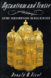 Cover of: Byzantium and Venice | Donald MacGillivray Nicol