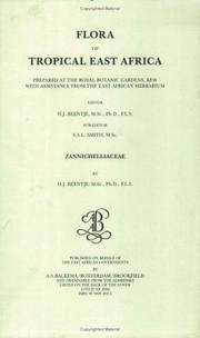 Cover of: Flora of Tropical East Africa - Zannichelliace (2000) (Flora of Tropical East Africa)