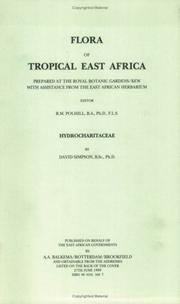 Cover of: Flora of Tropical East Africa - Hydrocharitaceae (1989) (Flora of Tropical East Africa)