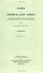 Cover of: Flora of Tropical East Africa - Ruppiaceae (1989) (Flora of Tropical East Africa)