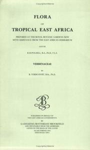 Cover of: Flora of Tropical East Africa - Verbenaceae (1992) (Flora of Tropical East Africa)
