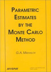 Cover of: Parametric estimates by the Monte Carlo method