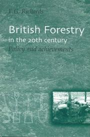 Cover of: British forestry in the 20th century | Richards, E. G.