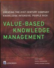 Cover of: Value-Based Knowledge Management | Rene Tissen