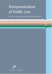 Cover of: Europeanisation of Public Law | J. H. Jans