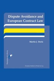 Cover of: Dispute Avoidance and European Contract Law | Martin J.