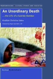 Cover of: An Unordinary Death...The Life of a Suicide Bomber | K.C. Sabra