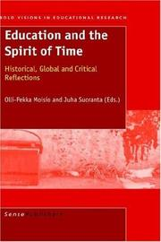 Cover of: Education and the Spirit of Time |