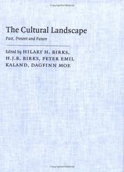 Cover of: The cultural landscape |