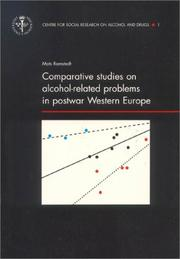Cover of: Comparative Studies on Alcohol-Related Problems in Postwar Western Europe (Center for Social Research on Alcohol & Drugs, Dissertation Series, 1) | Mats Ramstedt