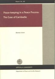 Cover of: Peace-Keeping in a Peace Process | Ramses Amer