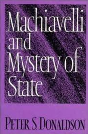 Cover of: Machiavelli and mystery of state