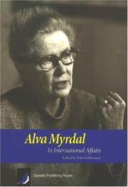 Cover of: Alva Myrdal In International Affairs |