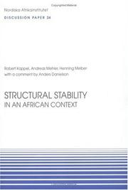 Cover of: Structural Stability in an African Context |