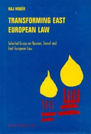 Cover of: Transforming East European Law