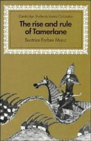 Cover of: The rise and rule of Tamerlane