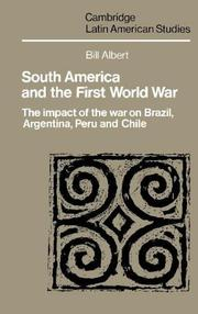 Cover of: South America and the First World War