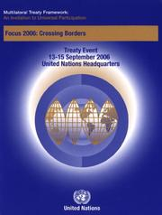 Cover of: Multilateral Treaty Framework |