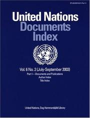 Cover of: United Nations Documents Index July-sept |