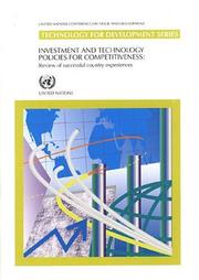 Cover of: Investment And Technology Policies for Competitiveness |