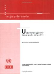 Cover of: Understanding Poverty from a Gender Perspective |