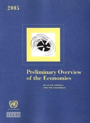 Cover of: Preliminary Overview of the Economies of Latin America And the Caribbean 2005 |