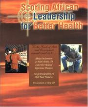 Cover of: Scoring African leadership for better health
