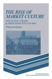 Cover of: The rise of market culture
