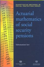 Cover of: Actuarial Mathematics of Social Security Pensions