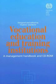 Cover of: Vocational Education And Training Institutions