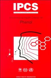 Cover of: Phenol (Environmental Health Criteria , No 161)
