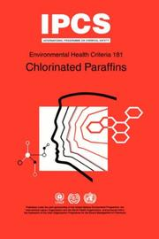 Cover of: Chlorinated Paraffins (Environmental Health Criteria , Vol 181)