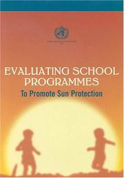 Cover of: Sun Protection and Schools: How to Make a Difference