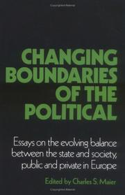 Cover of: Changing Boundaries of the Political | Charles S. Maier