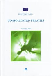 Cover of: Consolidated Treaties (November 2006)