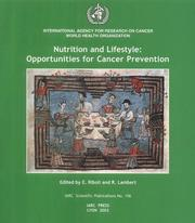 Cover of: Nutrition And Lifestyle Opportunities of Cancer Prevention (International Agency for Research on Cancer Scientific Publications)