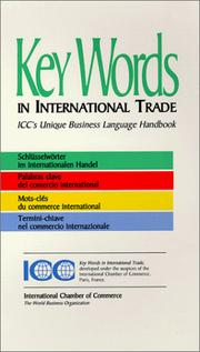 Cover of: Key Words in International Trade (ICC Publication)